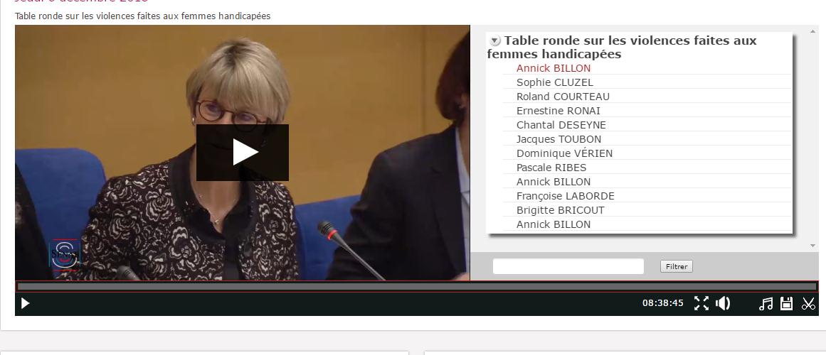 Table ronde au Sénat sur les violences faites aux femmes handicapées