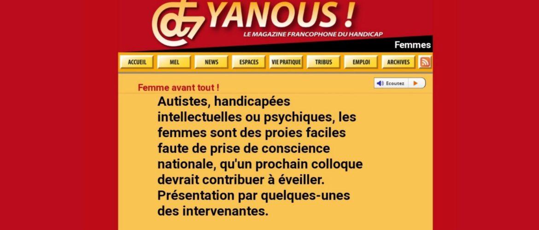 Yanous, colloque femme avant tout